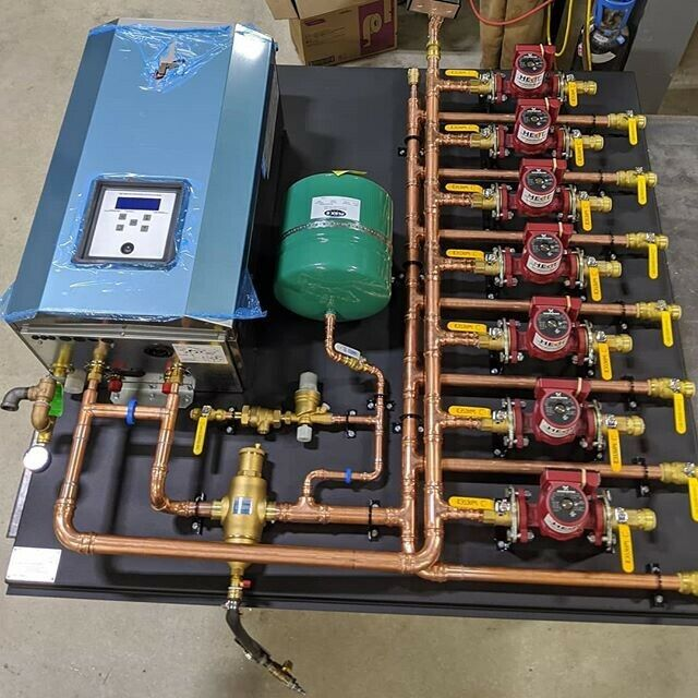 Radiant , Hydronic , Boiler Heating Zones Completely Pre Fabbed
