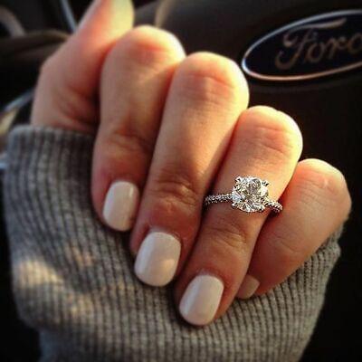 Genuine 1.25 Ct Round Cut Diamond Engagement Ring I,VS2 GIA White 14K Gold 2
