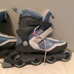 Woman Rollerblades - great for strengthening legs and butt