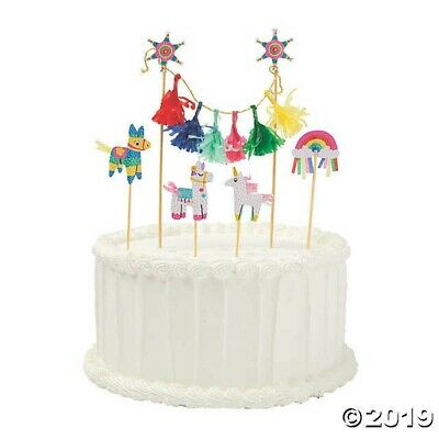 Fiesta Banner Cake Topper Cinco De Mayo Party Decoration PINATA DONKEY UNICORN](Fiesta Banner)