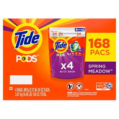 Tide Pods Laundry Detergent, Spring Meadow (152 ct. now 168 ct.) BEST DEAL!!
