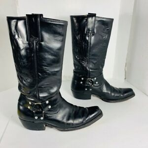 BOTTE  noire Western en CUIR / Leather black boots / MONTANA