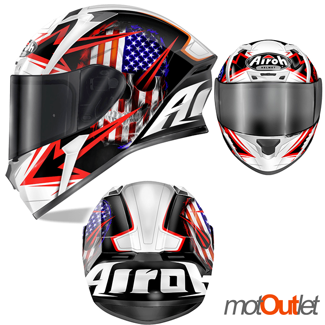 CASCO INTEGRALE AIROH 2017 VALOR SAM BLACK GLOSS MOTO SCOOTER FULL FACE CASQUE