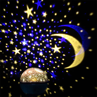 Night Light Baby Kids Lamp Moon Star Sky Projector Rotating Cosmos Us Fast Ship