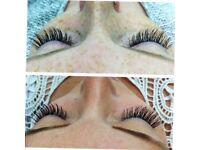 Individual eyelashes mink, silk, Nouveau £40/£45, Russian 3d eyelashes £55
