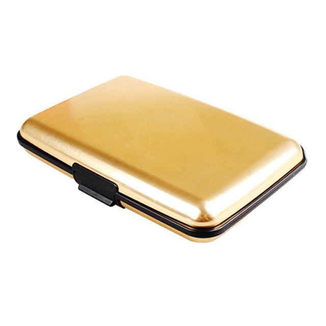 Metal Aluminum Wallet RFID Blocking Crash Proof Credit