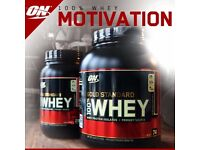 OPTIMUM NUTRITION GOLD STANDARD WHEY PROTEIN 2270g FREE SHAKER & FREE DELIVERY