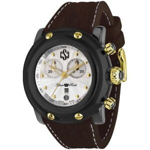 Brand New Glam Rock Miami Beach Brown Silicone Band Men's Watch