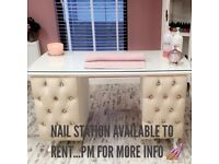 Nail Station & Hairdressing chair available to rent (La Belle Boutique Hair & Beauty Salon)