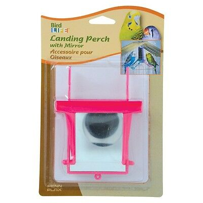 PENN PLAX LANDING PERCH WITH MIRROR SMALL BIRD TOY. FREE SHIPPING IN THE USA