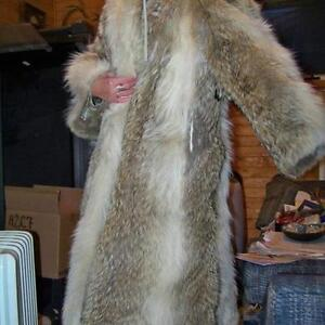 REDUCED $1000  Full Length Coyote Coat For Sale