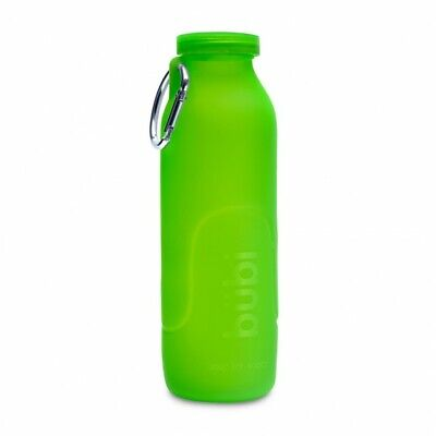 Eco Bb - BUBI 35 OZ COLLAPSIBLE ECO SILICONE WATER BOTTLE - SEAWEED GREEN + FREE SHIP ***