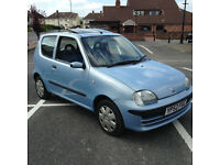 Fiat Seicento 1.1 2001 PETROL 3 DOOR FULL S/H 1 OWNER, VERY LOW MILES