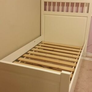 Ikea twin hemnes bed frame and mattress