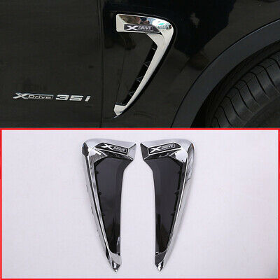 For BMW X5 X5M F15 F85 2014-2018 X-Drive LOGO Side Wing Fender Air Guide Vents