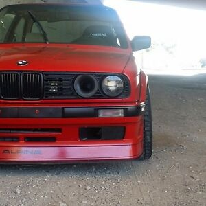 BMW E30 Headlight duct Kamotors race intake velocity stack M3 325i 318i
