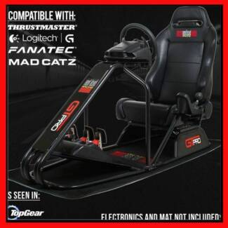 GTPro Racing Seat with Logitech G27 Console, Pedals & Shifter
