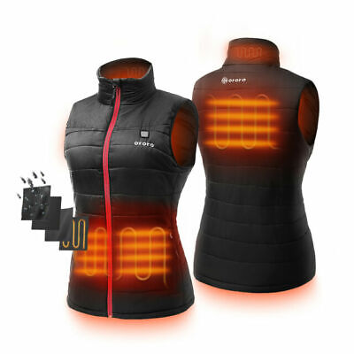 ORORO Women Heated Jacket Vest with Battery Pack Winter Outdoors Hiking Clothing