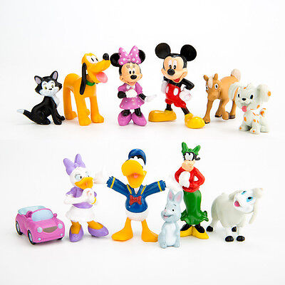 Disney Mickey Mouse Clubhouse 12 Figures Cake Toppers Toy Playset   U S  Seller