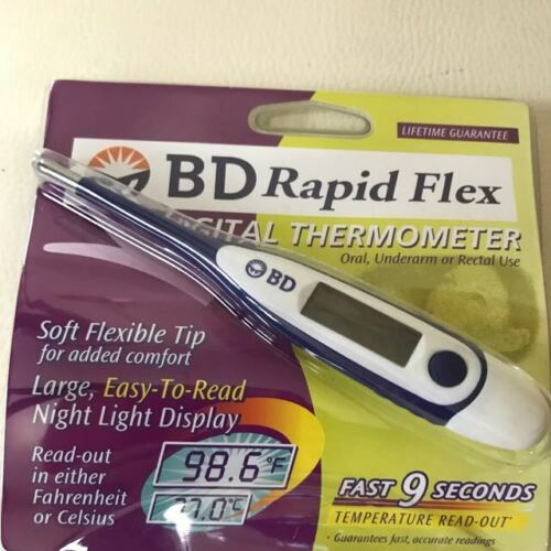 BD Rapid-Flex Ultra Fast 9-Second Oral+ Thermometer - Large Backlit Display