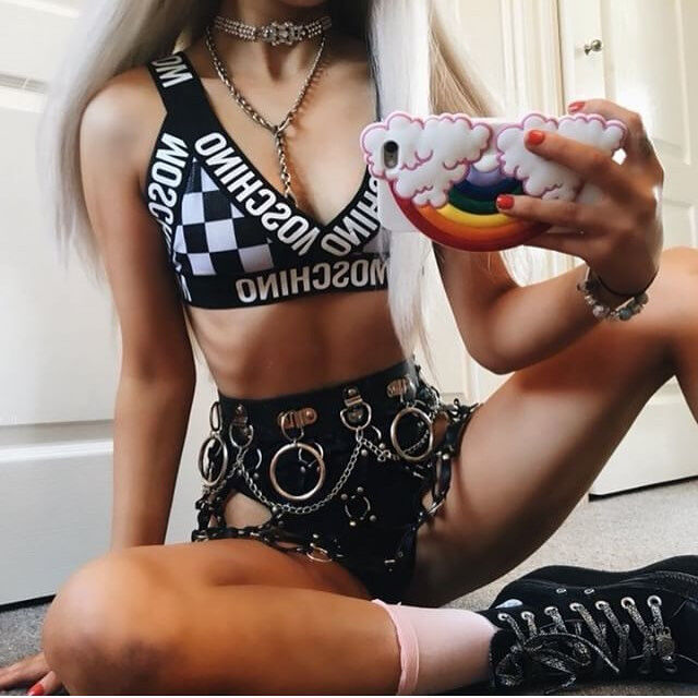 90be15f731c  MOSCHINO  REWORKED BRALET FESTIVAL BEAR AND BAMBI 10 ...