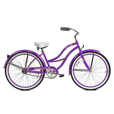 "Micargi 26"" Tahiti Lady beach cruiser bicycle bike Purple , used for sale  Shipping to Canada"
