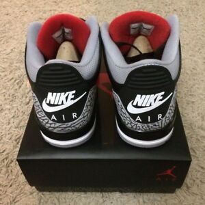 Authentic DS Jordan 3 Black Cement Size 12