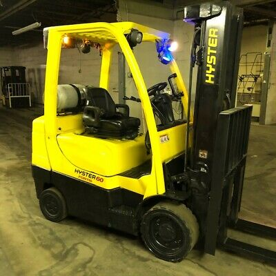 2015 Hyster S60ft 6000lbs Used Forklift Lp Gas Wtriple Mast Sideshift