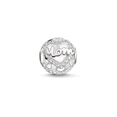 Karma Mum / Mom Charm Silver Plated Bead fits European Bracelets + Gift Bag