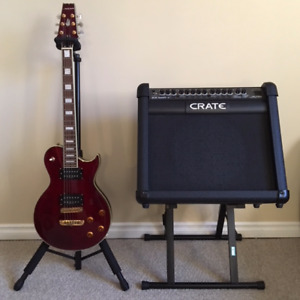Aria Electric Guitar & Crate Amplifier **Excellent Condition**