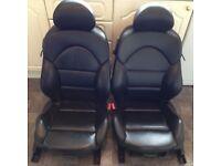 BMW 3 Series E46 M3 Coupe Black Leather Interior Seats