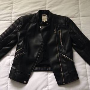 ZARA TFR Womens Size Small Faux Leather Biker Jacket