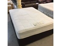 Double Memory Latex divan bed (mattress and base)