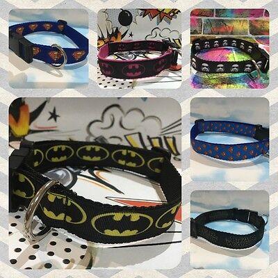 Marvel Superhero handmade Dog and Cat Collar, Batman, Superman, Comic, Star Wars - Superhero Dog Collars