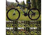 "Black and Black 2016 Giant Atx Mountain bike ""NEW"" boxed 26""1.95 Medium Size Aluminum Alloy"