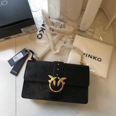 PINKO love imprime tracolla Shoulder bags black sales
