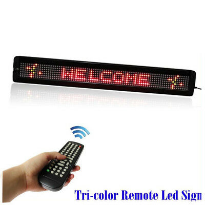 Leadleds 26 Rgy Tri-color Remote Programmable Scrolling Led Display Sign Board