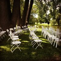 IF YOU NEED CHAIRS FOR YOUR CEREMONY.......