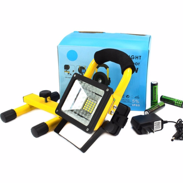 NEW Portable Waterproof 30W Led Flood Light Rechargeable