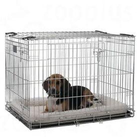 "Dog crate - ""Savic Dog Residence"" used one night only!"