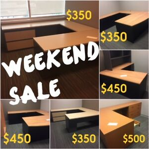 WEEKEND SALE, USED DESK SUITES FROM $350, EXCELLENT