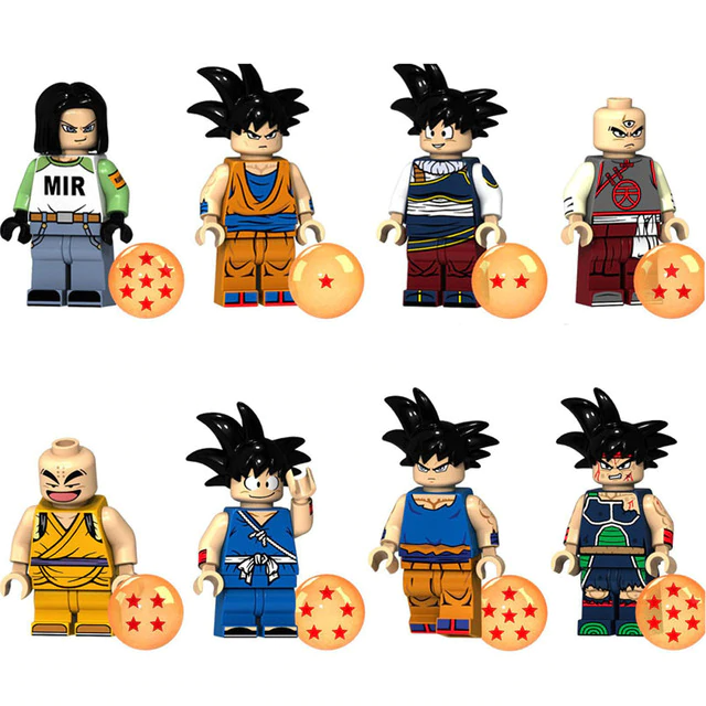 Count:8pcs-7:32pcs Dragon Ball Z Action Figure Super Goku Building Blocks For Lego Toy Heroes