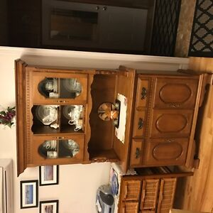 dining room table and buffet/hutch