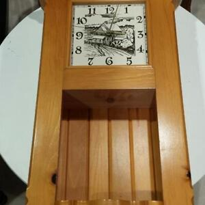 OLD MILL WOODEN CLOCK