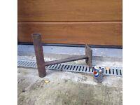 Wall bracket for pole