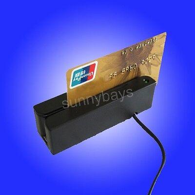 Usb Single Track-2 Magnetic Credit Card Reader Mini Magstripe Strip Swipe Id Pos