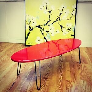 Hair pin legs 4 piece set mid century modern furniture  table le