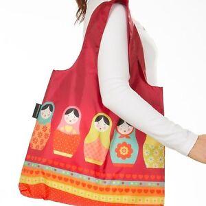 RUSSIAN DOLLS Shopping Bag FOLDABLE Eco Reusable Chic Babushka ENVIROSAX Tote