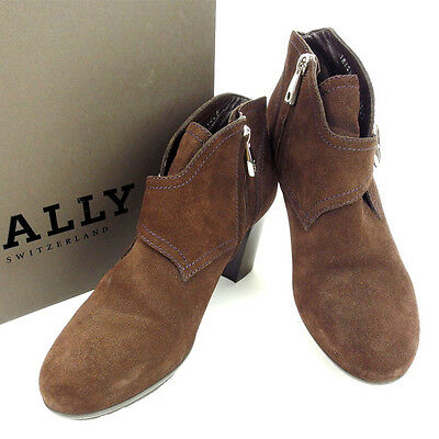 Auth BALLY Short Boots used F624