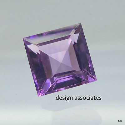 AMETHYST FLUORITE 10 MM SQUARE CUT ALL NATURAL GEMSTONE 6.00 CARATS